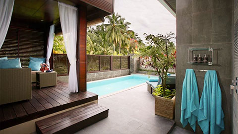 Luxe villas private pool and gazebo