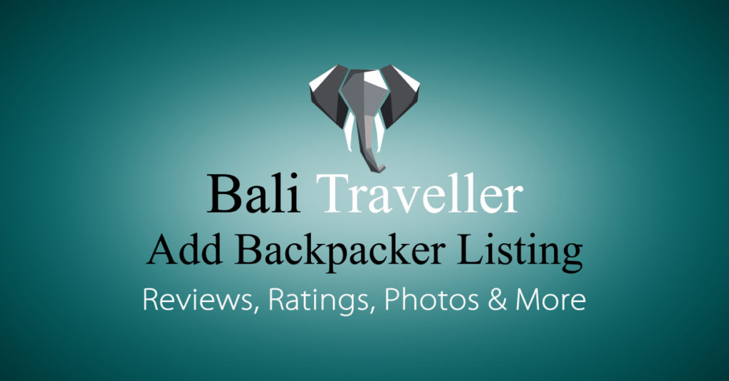 Add Bali Backpacker Listing