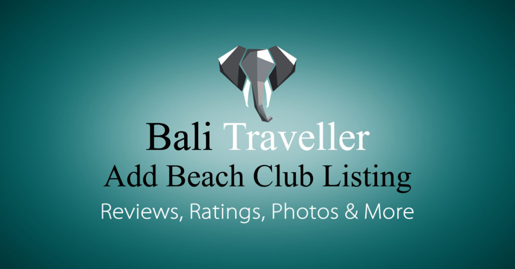Add Bali Beach Clubs Listing