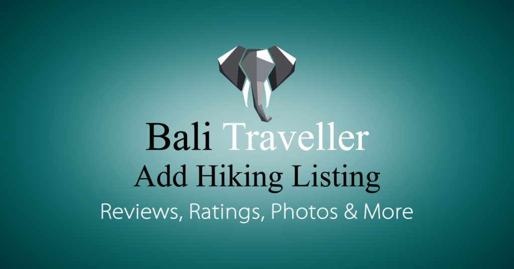 Add Bali Hiking Listing