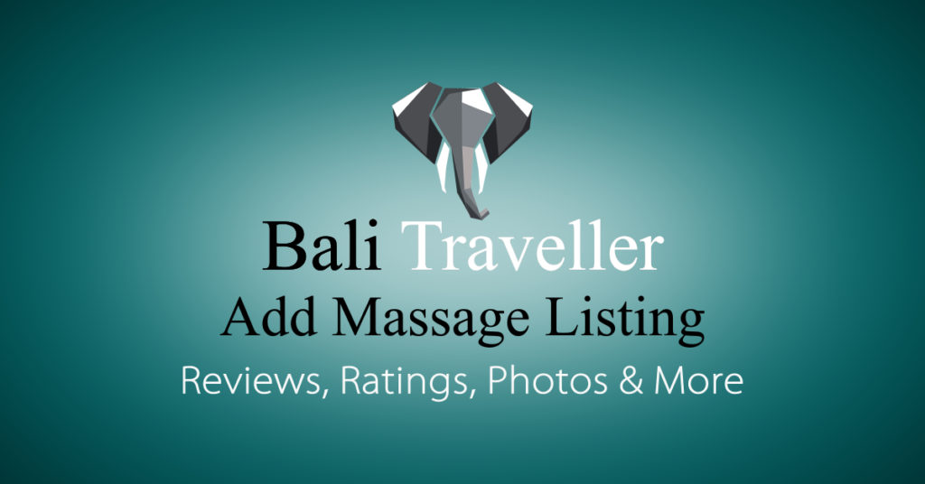Add Bali Massage Listing