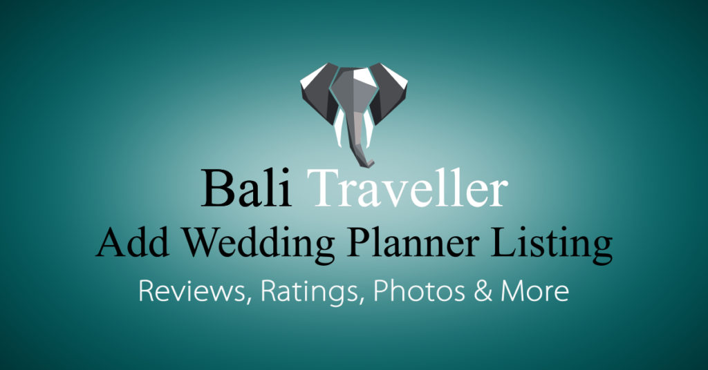 Add Bali Wedding Planner Listing